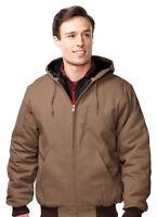 Tri-Mountain Men's Full Zip Waistband Rip Winter Hooded Outerwear Jacket. J4550