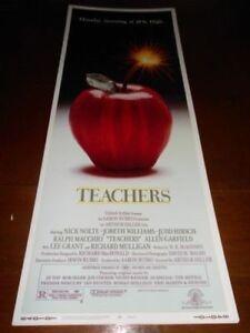 TEACHERS (1984) NICK NOLTE ORIGINAL INSERT POSTER NICE!