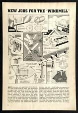 3 Whirligigs 1939 Design Plans Schooner - Windmill Chime - Sparkling Cylinder
