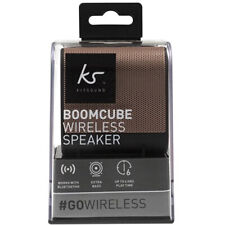 Portable Bluetooth Speaker KitSound Wireless Rechargeable Boom Cube - Rose Gold