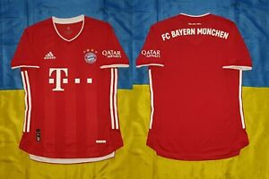 ● FC BAYERN MUNICH 2020/2021 HOME RED SHIRT ADIDAS HEAT.RDY SIZE MEN'S ADULT S ●