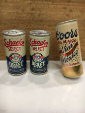 Lot Of 3 -  Collectible FULL VINTAGE Beer Cans  - Flat Top