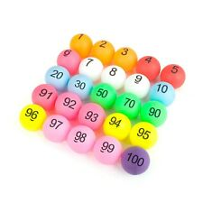 50x Lot GOGO Numbered Beer Pong Raffle Balls Pack 1-100 40mm for Decor Game