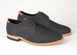 Lambretta Shoes Denim Blue Pink Stripe Uk 7 Eu 41 Leather Sole 65% Off £25.00