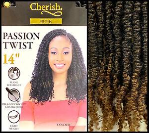 "Cherish Passion Twist 14"" Pre-Loop Crochet Braid Curly Hair Extensions"