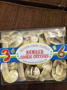 Number Cookie Cutters New In Box Large