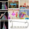 White Space Saver Wonder Magic Clothes Hangers Closet Organizer Hooks Racks CN