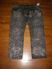NWT ROCAWEAR CLASSIC FIT FADED WASHED BLACK-GREY JEANS SZ: 48 X 32 RETAIL $84.00