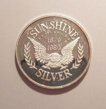 1979-1980 Sunshine Silver Commemorative 1 Oz .999 Silver Proof Round