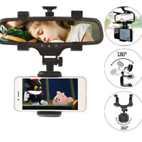 Auto Car Rear View Mirror Mount Stand Holder Cradle For Cell Phone GPS MP4 CHY
