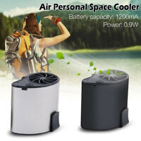 Portable USB Waist Clip Hanging Mini Mobile Air Cooling Fan Handsfree Outdoor