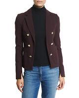 NWT $395 Theory Jonita K Fixture Ponte Jacket in Garnet - size 6!