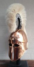 Medieval Wearable Greek Corinthian Helmet Free Leather Liner Knight Helmet GIFT