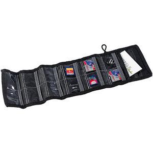 Speicherkartentasche: Tasche für bis zu 12 Speicherkarten (SD Karten Tasche)