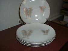 FUKUGAWA GOLD BAMBOO 901 SET OF 4 BREAD & BUTTER PLATES