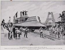 1935  --  PASSAGE DE LA CANONNIERE FARCY SUR LE PONT D IENA JUILLET 1888   3B322
