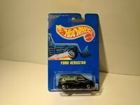 Hot Wheels Ford Aerostar Black w/Rollerblade Tampo BW's On 1991 Blue Card #236