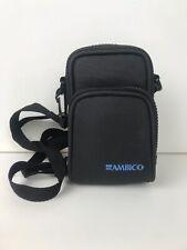 Ambico Small Camera Bag Adjustable Shoulder Strap Belt Loop Black