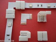 4 x Eckverbinder RGB SMD LED Strip Streifen Steck- Direktverbinder L-Form 10mm