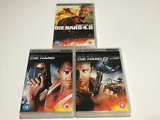 Die Hard 1, 2 and 4.0 UMD PSP UK Release Region 2 FREE SHIPPING WORLDWIDE!