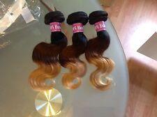 BRAZILIAN 3Tone Virgin Human Hair Body Waves  3Bundle 12,12,12 SAME DAY DISPATCH