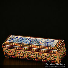 Esfahan Handicrafts - Khatam Wooden Pencil Box (جاقلمی خاتم کاری) - Size 20cm