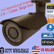 HD-TVI 1080p 2.4MP Motorized Zoom AutoF 2.8-12mm VF Bullet Camera Sony CMOS-GREY