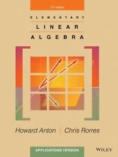 Elementary Linear Algebra by Chris Rorres and Howard Anton(2013)--PDF Version