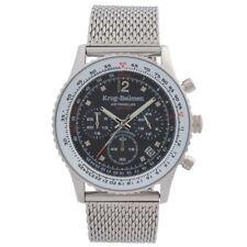 Krug-Baumen Mens Air Traveller Diamond Watch RRP £359 Brand New and Boxed