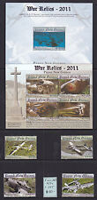 PNG: 2011 WAR RELICS  SHEETLET SG 1536 & 37 + SET OF 4   **MUH**