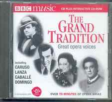 GREAT OPERA VOICES: CARUSO LANZA CABALLÉ DOMINGO MILNES FLAGSTAD BJÖRLING/BBC CD