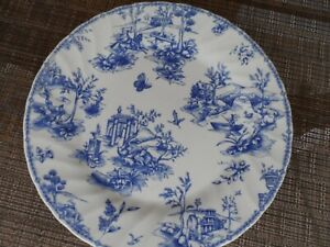 """Churchill Blue Toile Replacement 10"""" Dinner Plate  multiple available"""