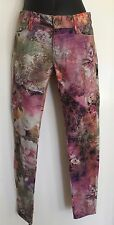 NWT Etienne Marcel Size 24 Flowers Print Imported Skinny Ankle Jeans Pink Purple