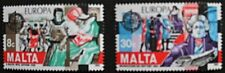 Europa, historical events stamps, 1982, Malta, SG ref: 692 & 693, 2 stamps, MNH