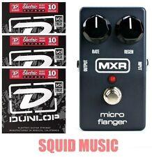 MXR Dunlop M-152 Micro Flanger Guitar Effects Pedal M152 ( 3 SET OF STRINGS )