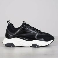 DIOR HOMME 1100$ B22 Sneakers In Black Technical Knit & Calfskin