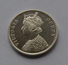 1862 British India Silver 1 Rupee Coin - Victoria Queen - Rare - LOOK !!!!