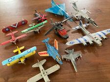Mixed Die Cast Plane, Jet & Helicopter Die Cast Lot~Hw~ Maisto~Matchbox