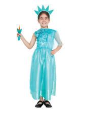 Statua della Libertà Bambine Bambini Costume Vestito Da Bambino 6-8 anni