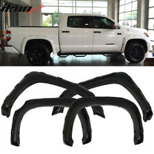 14-17 Toyota Tundra Boss Pocket Rivet Fender Flares Set 4PCS Smooth Black