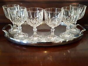 6 RCR Lead Crystal Wine Goblets made in Italy Set of 6 Ambassador 200mls