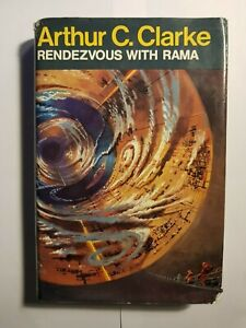 Rendezvous with Rama - Arthur C Clarke 1st Ed H/Back with dustwrapper