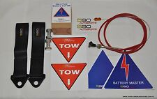 590 FIA spec 6 pole Battery Isolator Pull cable kit 2x Race Tow Recovery Straps