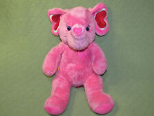 "BUILD A BEAR 13"" PINK ELEPHANT TONS OF LOVE STUFFED ANIMAL RED HEARTS PLUSH TOY"