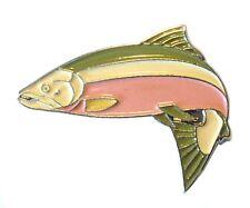 Salmon Freshwater Game Fish Angling Fisherman Angler Enamel Pin Badge Brooch NEW
