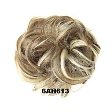 Curly Synthetic Hair Flexible Scrunchie Elastic Wrap For Hair Bun Ponytails Q5