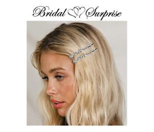hair pins Bridesmaid, bride pair rhinestone 3 star  FREE GIFT W/ PURCHASE C-VID