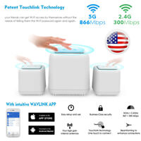 AC1200Mbps Dual-Band Whole Home Wi-Fi Smart System,Wifi Mesh for 3 Pack LAN/WAN