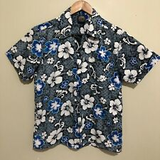Pacific Cliff Hawaiian Floral Flowers Vintage 90's Button Shirt Boys Youth 10