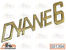 MONOGRAMME AUTOCOLLANT (STICKER) pour coffre / malle de Citroen DYANE 6  -1394-